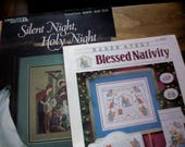 Two Nativity Scene Counted Cross stitch project pattern booklets