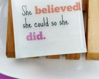 Gift Women, Gift for Her, Graduation Gift, Best friend, Womens Gift, She believed she could so she did. MESSAGE IN SOAP, Mom Gift
