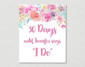 Floral Wedding Countdown ...