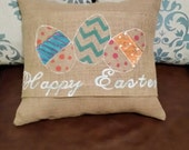 Happy Easter egg pillow wrap