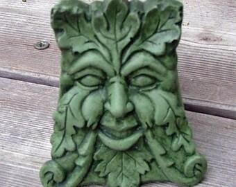 Concrete Green man Pot Feet (Moss) set of three