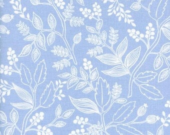 rifle paper fabric, rifle paper co, boho fabric, floral fabric, floral quilt fabric, les fleurs, queen anne periwinkle, quilting cotton