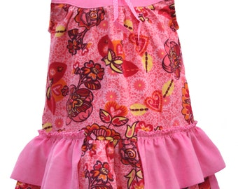 Girl Dress, Floral Dress, Winter Dress, Clothing Kids, Classic Toddler Dress, Pink Dress, Size 2T