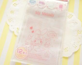 12  Zip Top Baggies / Gift Bags (12cm17cm) My Melody Pink Dots