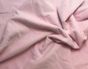"Hand Dyed Cotton VELVETEEN Fabric BLUSH PINK fat 1/4 18""x27"" remnant"