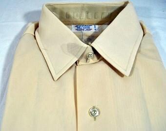 Men's Vintage Nylon Shirt - Beige by Elison - Made in Korea - NIP - New in the Package