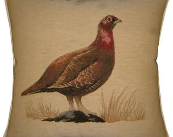 Grouse Hunting Bird Tapestry Cushion Cover Sham