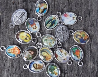 Grab bag of 5 ASSORTED Mini Religious Medals