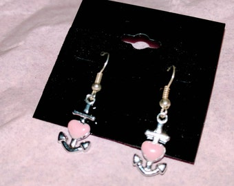 Anchor Heart Earrings