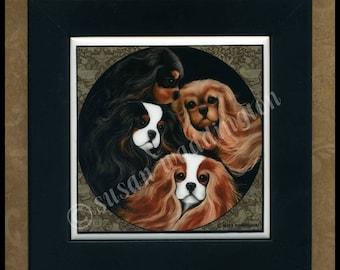 Cavalier King Charles Spaniel framed ceramic tile