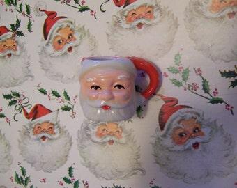miniature sweet faced santa mug