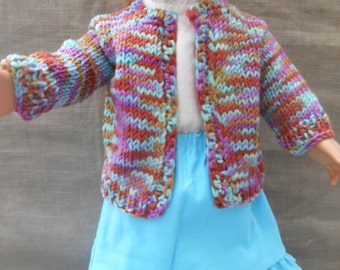 American Girl (R) doll sweater & skirt outfit, turquoise / multi colored