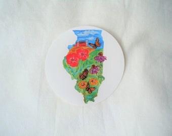 Illinios Prairie State Sticker