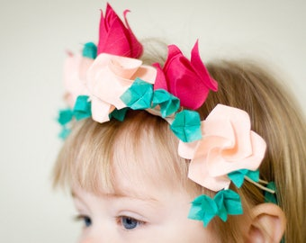 Sample for Bespoke Textile Origami Wedding Flowers, keepsake bouquet