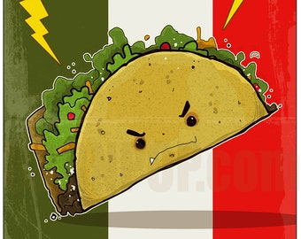 Taco Time Signed 8x11 Print