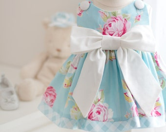 Baby Blue Rose Dress