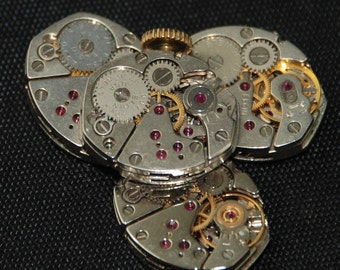 Vintage Antique small Watch Movements Steampunk Altered Art R 14
