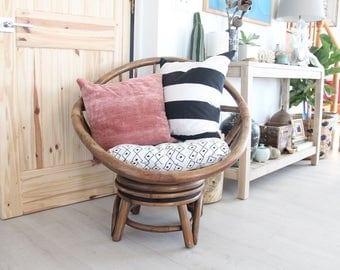 Modern Rattan Swivel Egg Chair