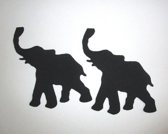 9 Tribal Elephants Iron On Appliques 3""