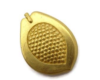Mish Costume Jewelry Brooch - Gold Tone Pomegranate, Designer
