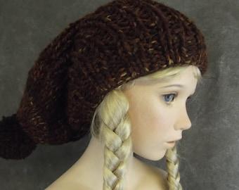 Children,Hats,Accessory,Brown Tweed,Knit Slouchy,Unisex,Winter Hats,Rust,Boys, Girls