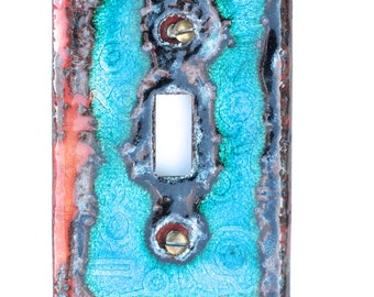 Free Shipping One of a Kind Enameled Light Switch Plate Cover