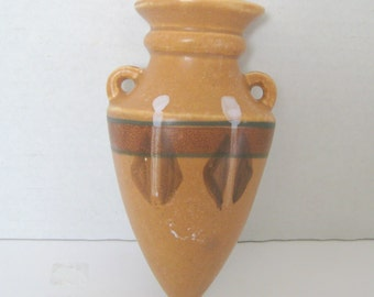Vintage Southwest Style Wall Pocket Pottery Vase Made in Japan