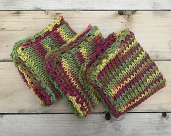 Fall / Rustic Variegated dishcloths NEW COLOR