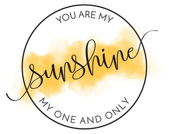 You Are My Sunshine Printable Digital Poster Card - Birthday - Valentines
