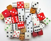 Lot of Vintage Dice for Games, Creative Projects, Jewelry Making, 32 Pieces, Vintage Supply, Game Dice