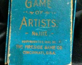 VINTAGE Playing Cards Game of Artists 1897 = 120 years old