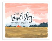 2018 Land & Sky Appointment Calendar // 1canoe2 // Hand illustrated