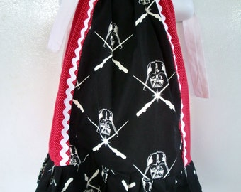 Black and Red Pillowcase dress Inspired in Star Wars