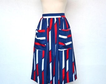 GRAPHIC Print SKIRT with Big POCKETS.
