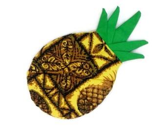 60s Potholder Vintage Hawaiian Print Pineapple Oven mitt