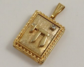 Vintage Book Style Photo Locket Pendant, Gold Tone Metal