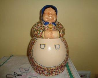 RARE Vintage Brayton Laguna Old Lady Cookie Jar