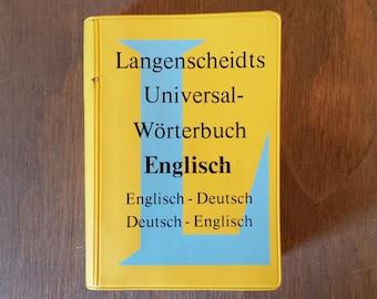 Vintage Langenscheidts Universal Worterbuch English-German Dictionary 1988