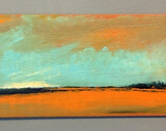 MINI 1719, original painting, oil, landscape, 100% charity donation, Cancer Research
