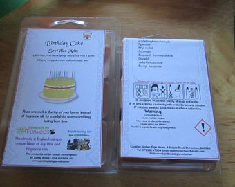 Birthday Cake Scented Soy Wax Melts Pack