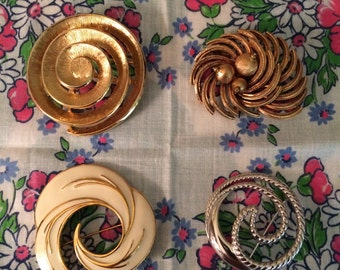 Your choice of costume jewelry circle pins brooches Capri Monet Trifari