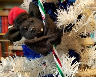 Baby Bat Candy Cane Ornament