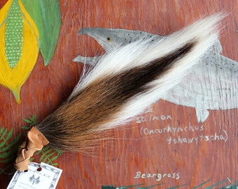 Deer tail - real wild whitetail deer totem dance tail on leather belt loop for shamanic ritual and dance DR01