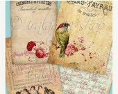 SALE OLD PAPER Collage Digital Images  -printable download file-