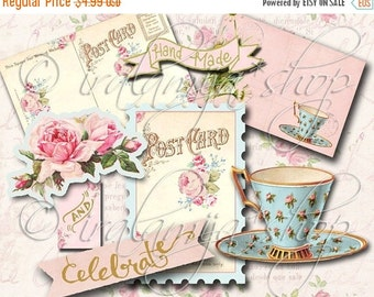 SALE ANTIQUES Collage Digital Images -printable download file-
