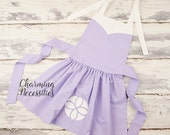 Girls Princess Apron Pretend Play Dress Up Baking, Inspired by Sofia the First Charming Necessities