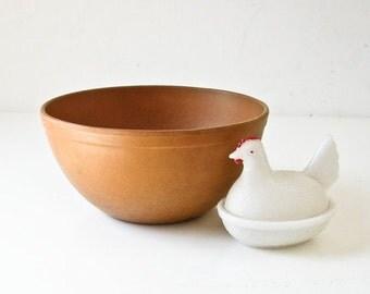 Sale Mid Century Modern Bowl, 1950s, Serving, Agatized Wood