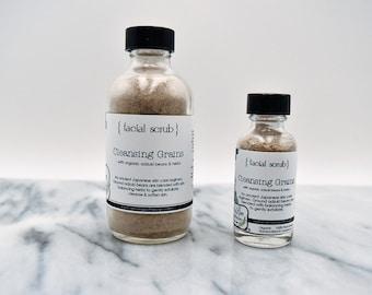 Organic Facial Scrub: Cleansing Grains, vegan
