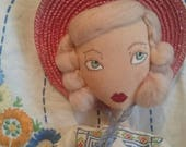 Reserved for Sarah - Rosie - Vintage 1950s Western Inspired Rag / Cloth Doll