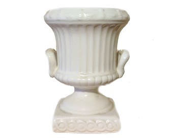Vintage Bone White Inarco Japan Mini Urn
